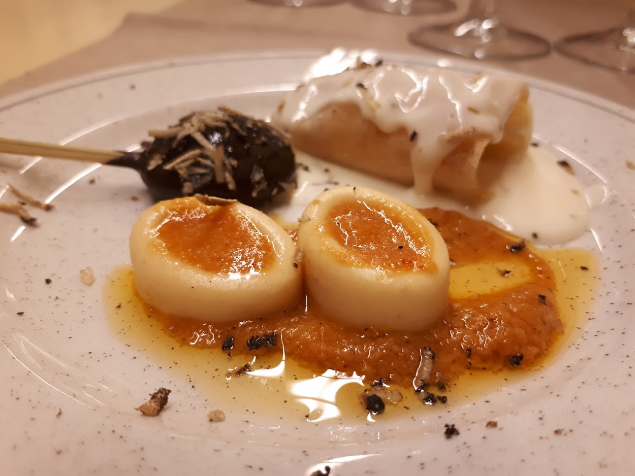 Truffle dinner at Serra de Prades in catalonia