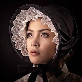 Lady with a Bonnet by Lucky E. Santoso - People Fashion