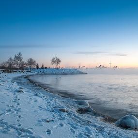Frozen shores by Jack Noble - Landscapes Sunsets & Sunrises ( last sunrise, toronto, december 31 2017, -31°c, photography, lake ontario, jack nobre, winter, nature, cold, fog, freezing cold, sunrise,  )
