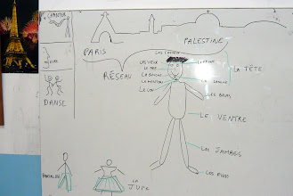 "Photo: Au tableau de l'atelier ""Dire"""