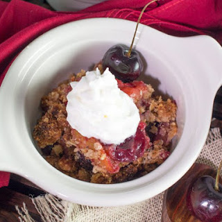 Cherry Plum Fruit Crumble.