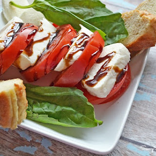 My Gluten Free Version of Panera Bread's Tomato Mozzarella Salad