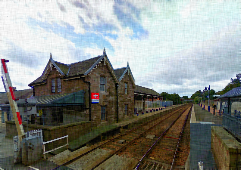 Photo: Broughty Ferry railway station