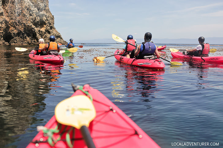 Kayaking Channel Islands California with Tinggly.