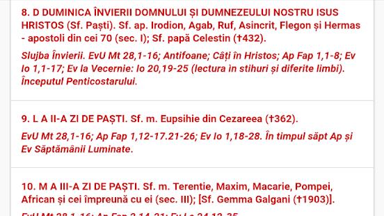 Calendar Greco-Catolic 2018 - náhled