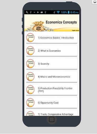 Economics Concepts In English  screenshots 1