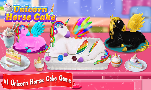 Glittery & Sparkly Rainbow Unicorn Cake Maker! 1.6 screenshots 1