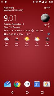 Transparent clock & weather Screenshot 15