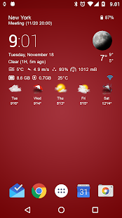 Download Transparent clock & weather For PC Windows and Mac apk screenshot 15