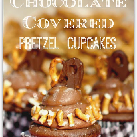Stout Cupcakes With Chocolate Covered Pretzels Recipes — Dishmaps