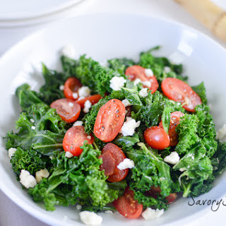 Kale and Tomatoes Sauteed in Garlic Brown Butter.