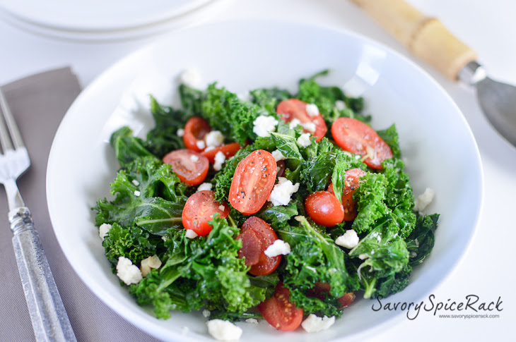 Kale and Tomatoes Sauteed in Garlic Brown Butter Recipe