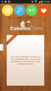 Calorie Chart screenshot 1