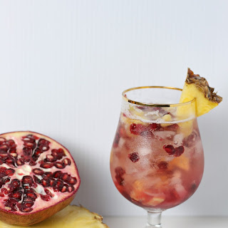 Pomegranate Pineapple Prosecco Fizz