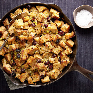 Skillet Stuffing with Apples, Shallots, and Cranberries recipe | Epicurious.com.