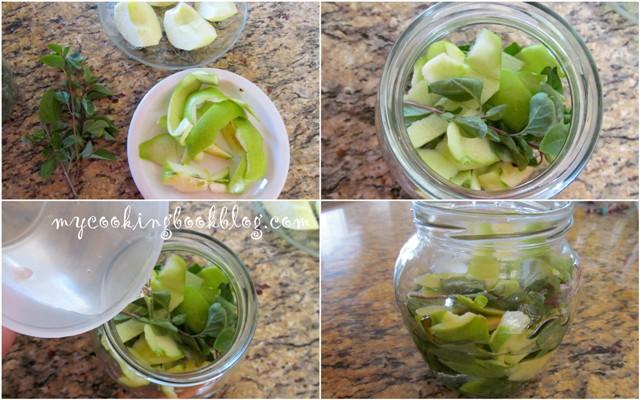 Дива мая (квас) с босилек и зелена ябълка