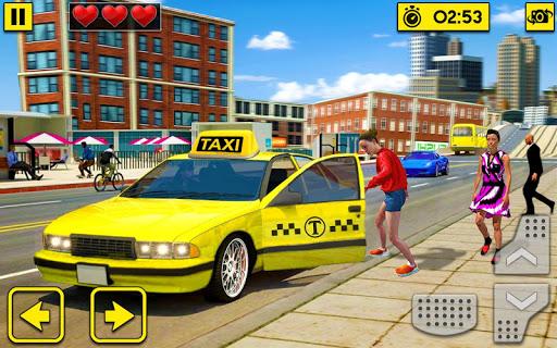 City Taxi Driving Sim 2020: Free Cab Driver Games apklade screenshots 2