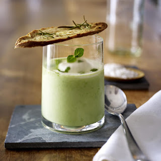 Chilled Pea Soup With Crostini
