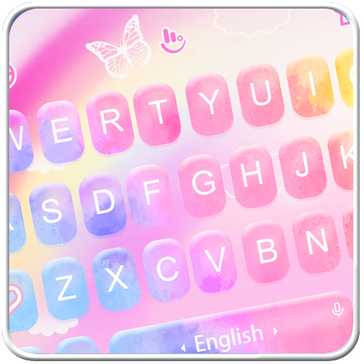 Colorful Rainbow Keyboard Theme