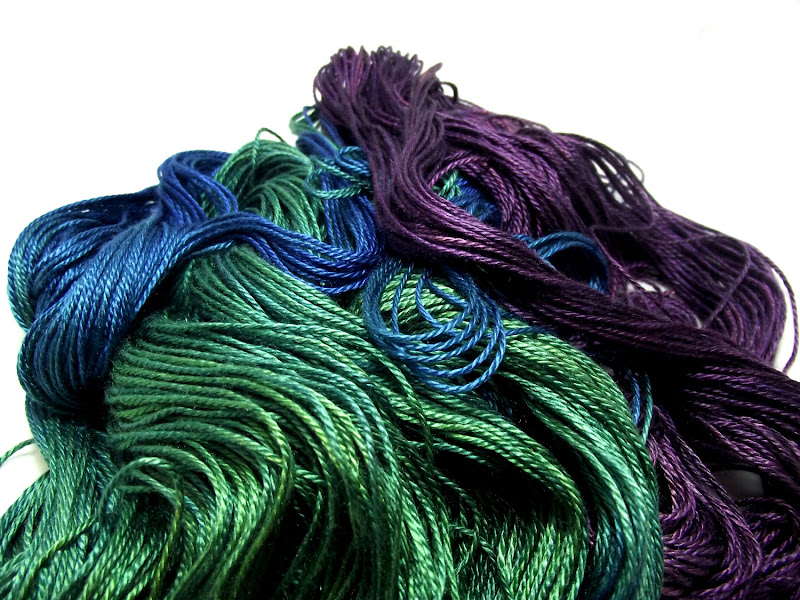 Photo: Colorway: Iridescence, with a bluer green
