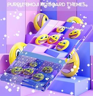 Purple Emoji Klávesové motivy - náhled