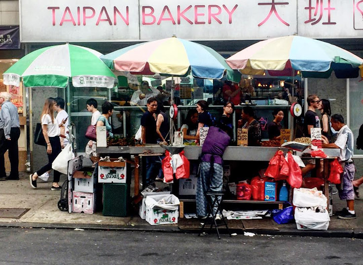 The action outside of Taipan Bakery. Photo: phoptahgraphy.