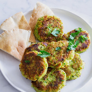 Green Pea and Chickpea Falafel.