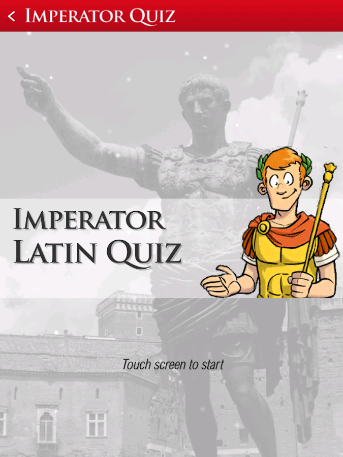 Imperator Latin Quiz- screenshot
