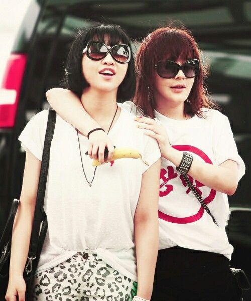 2NE1 Minzy and Bom