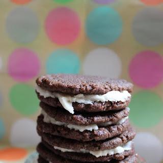 "Easy Homemade ""Oreos"" - Chocolate Sandwich Cookies (vegan adaptable)"