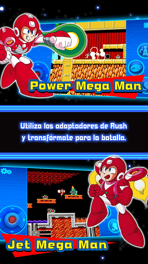 MEGA MAN 6 MOBILE: captura de pantalla