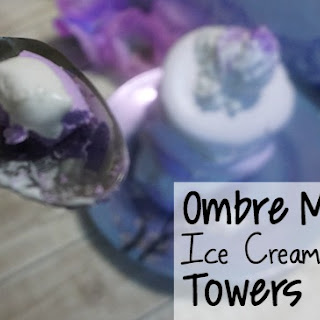 Ombre Meringue Ice Cream Cookie Towers