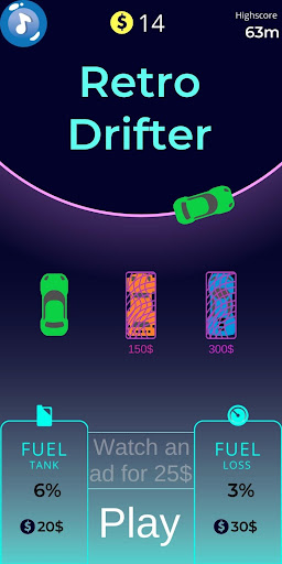Télécharger Retro Car Drifter - 2D apk mod screenshots 1