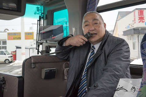 車中での坂下町長ガイド