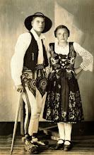 Photo: Komperda Aniela,Władysław Mrożek Scepon -lata 40-te.j