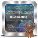 Blue painting GO SMS icon