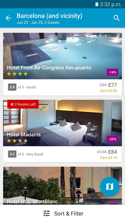 ebookers Hotel Flight Car Hire- screenshot