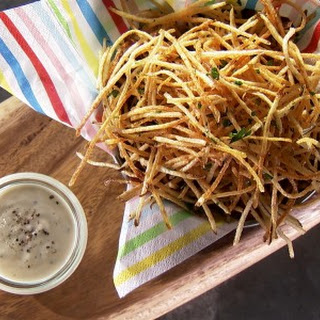 Shoestring Fries with Truffle Aioli