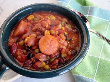 Bean & Pea Slow Cooker Soup Recipe