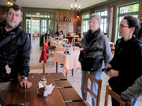 Photo: Day 6 - Lunch at a German-style roadhouse on the way  to Torres del Paine Natiional Park (Wilfried, Deanna, Heather)