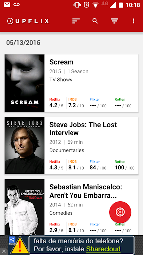 Upflix - Netflix Updates 5.5.7.9 screenshots 1