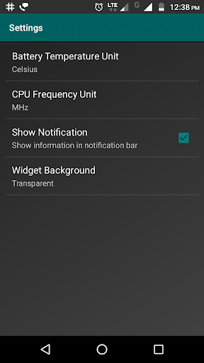 Widgets - CPU | RAM | Battery  screenshots 6