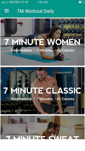 7M Workout Daily - Woman & Man screenshot 1