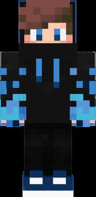 e um azul