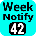 Calendar Week Number Notify icon