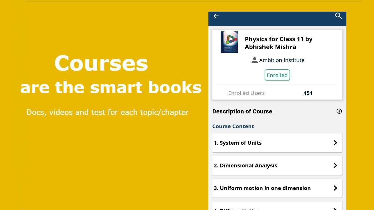 Physics App for JEE Mains, Advanced, NEET: HCV- screenshot