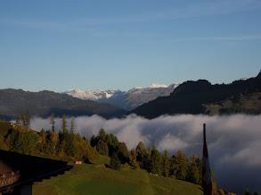 Photo: Graubünden, Stierva - Nebel im Tal