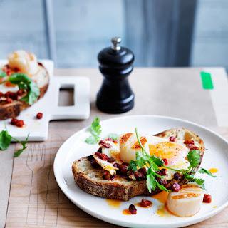 Scallops Eggs Breakfast Recipes.