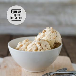 Pumpkin Toffee Ice Cream.