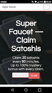 Bitcoin Super Faucet - náhled